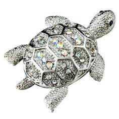 Pugster Turtle Animal Brooches & Pins Pugster. $13.59. One free elegant cushioned Gift box available with every order from Pugster.. Can be pinned on your gown or fastened in your hair with bobby pins.. Exquisitely detailed designer style with Swarovski cystal element.. Money-back Satisfaction Guarantee.. Occasion: casual wear,anniversary, bridal, cocktail party, wedding