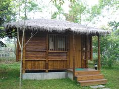 Bamboo hut in Taiwan ♥ Cozy and fun! Tropical Home Decor, Tropical Houses, Bamboo House Design, Hut House, Bahay Kubo, Bamboo Image, Bamboo Architecture, Beach Bungalows, Cabins And Cottages