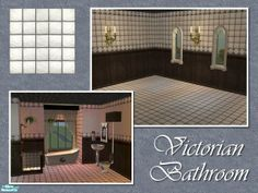 Cyclonesue's Victorian Bathroom Floor - Plain White Tile