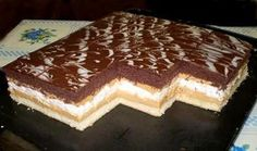 Kráľovské rezy, recepty, Zákusky | Tortyodmamy.sk Sweet Desserts, Delicious Desserts, Dessert Recipes, Cake Bars, Sweet And Salty, Nutella, Tiramisu, Sweet Tooth, Bakery