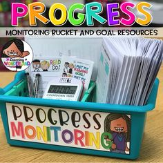Progress monitoring resources for the primary classroom! Autism Classroom, Special Education Classroom, Primary Classroom, Kindergarten Classroom, Future Classroom, Primary Education, Classroom Organisation Primary, Teacher Organization, Small Group Organization