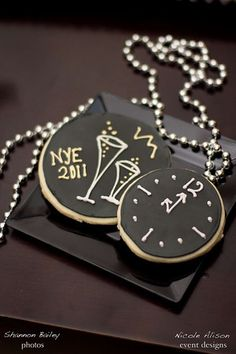 New Years Eve Clock Cookies