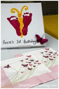 Pink and yellow butterfly theme party for a first birthday. This is a beautiful party theme for the social butterflies.