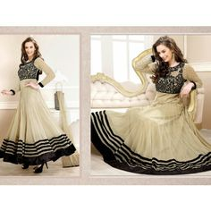 3001_Evelyn sharma Cream Embroidered Ankle length anarkali suit