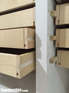 Woodworking Joinery Table Saw Wood drawer runners.Woodworking Joinery Table Saw Wood drawer runners Woodworking Joints, Woodworking Workbench, Woodworking Workshop, Woodworking Furniture, Wood Furniture, Woodworking Projects, Woodworking Shop, Woodworking Basics, Woodworking Classes