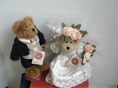 "Boyds Bears ""Mr & Mrs Forevermore"" 8.5"" Bride & Groom -QVC Exclusive #99851V-NWT"