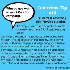 Why this company-interview answer #businessmajor