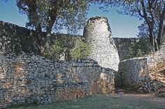 Conical Tower and Circular Wall of Great Zimbabwe. African Words, African Art, Africa Quiz, Ap Art History 250, Content Area, Ancient Mysteries, Prehistory, Image Collection, Art And Architecture