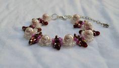 Beautiful elegant Glass Pearl bracelet Etsy listing at https://www.etsy.com/listing/200439926/glass-pearl-bead-woven-bracelet-bride