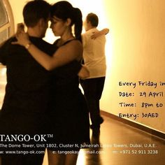 JOIN US THIS FRIDAY at miMILONGA! Date: 29 April 2016 Time: 8:00pm to 12:00am Cost: 30AED per person (Snacks and drinks available. Contributions welcomed.) Venue: The Dome Tower, Unit 1802 Cluster N, Jumeirah Lakes Towers Dubai, United Arab Emirates www.tango-ok.com #Tango #Dubai #miMilonga #MilongasInDubai #TangoInDubai #TangoOK #IWantToTango #ArgentineTango #TangoArgentino #RealTango #Milonga #FridayFeeling