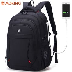 2717b0a6f9f01 Aoking Marka Klasyczne Biznesowe męska Plecak Duża Pojemność Dorywczo  Studentów Plecak Na Laptopa przed kradzieżą Waterproof