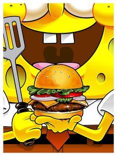 "From the ""Fictional Food"" series by Joshua Budich [via : http://www.geek-art.net/lexposition-fictionnal-food-2-de-joshua-budich-a-la-gallery-1988/ ] Wallpaper Food, Iphone Wallpaper, Stephen Hillenburg, Spongebob Squarepants, Vintage Advertisements, Recipe Icon, Geek Art, Canvas Size, The Simpsons"