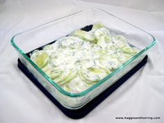 Recipes by the Haggis and the Herring: Secret Recipe Club: Creamy Cucumber Salad with Dill Creamy Cucumber Salad, Creamy Cucumbers, Cucumber Recipes, Diet Recipes, Cooking Recipes, Healthy Recipes, Veggie Recipes, Salad Recipes, Food Club