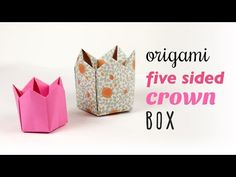 Origami 5 Sided Crown Box / Lid Tutorial ♥︎ DIY ♥︎ - YouTube