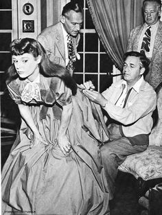 walter plunkett and Melvyn LeRoy changing the design of June Allysons dress