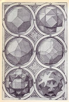 Aer (c) - Perspectiva Corporum Regularium - Wenzel Jamnitzer 1568 - Octahedron Solid Geometry, Geometry Shape, Geometry Pattern, Geometry Art, Sacred Geometry, Platonic Solid, Greek Art, Art Images, Mandala