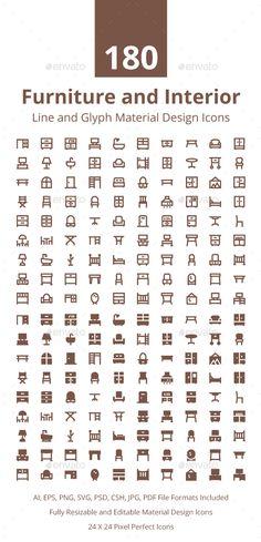 180 Furniture Material Design Icons