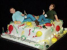 Trendy Birthday Cake For Men Funny Unique Ideas - Birthday Cake Fruit Ideen Birthday Cakes For Men, Creative Birthday Cakes, Birthday Desserts, Birthday Cake Decorating, Party Desserts, Man Birthday, Funny Birthday, Party Drinks, Birthday Ideas