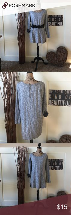 Merona hi lo tunic This cute tunic has lots of styling options.  You can wear it full or belted.   Sleeves can be rolled or worn straight down.  This can be worn over leggings or tights with boots or your favorite flats. Merona Tops Tunics