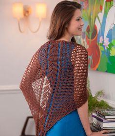 Falling Leaves Shawl, #crochet, free pattern, #haken, gratis patroon (Engels), omslagdoek