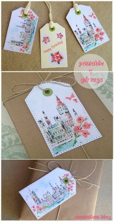 free_printable - fabric inspired gift tags
