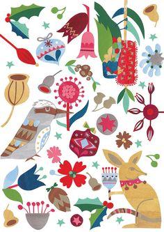 (Australian) Christmas Rozella Pattern by Andrea Smith Aussie Christmas, Australian Christmas, Summer Christmas, Christmas Makes, All Things Christmas, Christmas Stocking Decorations, Christmas Stockings, Christmas Crafts, Christmas In Australia