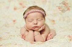 Adorable!  Love the headband! #babyheadband