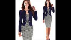 3520c7d3db Resultado de imagen para ropa para.mujeres de 59 años Vestido Con Blazer