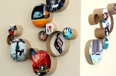 rolos de papel de diferentes tamanhos com fotografias