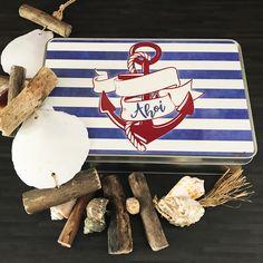 Cadouri - handmade Shop   mit Liebe hergestellte Produkte für Zwei- & Vierbeiner   Blechdose ANKER Bunt, Blue Butterfly, Tin Lunch Boxes, Wrapping Papers, Anchor, Goodies, Packaging