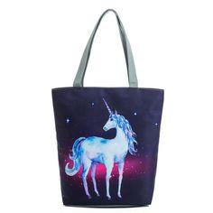 Unicorn Horse Seamless Mode Deluxe Printing Small Purse Portable Receiving Bag