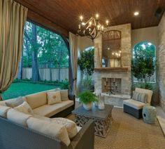My dream porch!  Stunning, amazing, cozy!♥♥♥