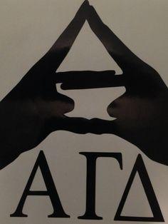 Alpha Gamma Delta Hands Laptop Decal