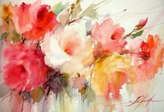 Watercolor Floral Abstract--by artist Fabio Cembranelli. He continues to amaze me!
