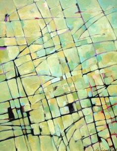 View From Above - Original Abstract Acrylic Modern Art Contemporary Painting by Filomena de Andrade Texas Contemporary Artist -- Filomena Booth