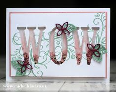 Letters for You from Stampin Up | Falling Flowers bundle, Flourishes thinlets