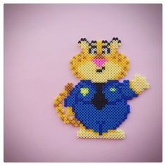 Officer Benjamin Clawhauser - Zootopia perler beads by  season322 - pattern: https://de.pinterest.com/pin/374291419012834623/