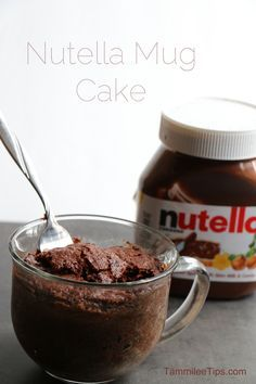 """Nutella Mug Cake Recipe 