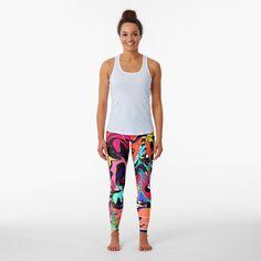 Promote   Redbubble Designer Leggings, Graffiti Art, Color Patterns, Print Patterns, Cosmic Art, Flamingo Pattern, Vintage T-shirts, Background S, Pink Flamingos