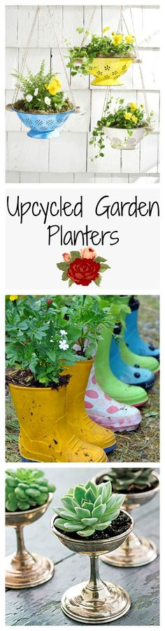 It turns out that you can grow plants pretty much anywhere, these upcycled planters will definitely do the trick!