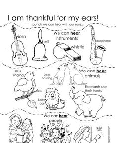 i am thankful for my ears primary lessonslds