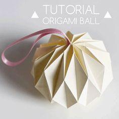 Boule de Noël origami