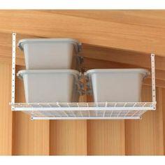 D Garage Ceiling Storage Unit In White