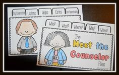 The Meet the Counselor Files - Available for both male and female counselors, this activity is great to start the school year or to use with your new student groups.  Both primary and intermediate versions available.
