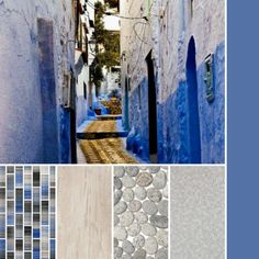 Cool blues with sandy textures #thetileshop