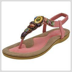 Damen Sandalen, Pink - Rose - Größe: 34 Lazutom