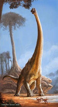 paleoillustration: The Singing Sauropod byStephen Somers