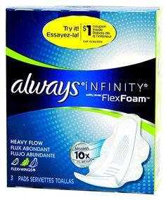 ALWAYS INFINITY with Flex Foam Heavy Flow 3 Pads Flexi-Wings    #daisyvoxbox  #influenster
