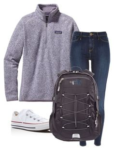 """Untitled #36"" by fia2002 on Polyvore featuring Patagonia, River Island, Converse and The North Face"