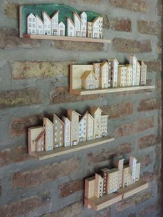 My Dad'd DIY wood works for tiny little houses Wood Block Crafts, Scrap Wood Projects, Wood Blocks, Woodworking Projects, Craft Projects, Wooden Art, Wooden Crafts, Diy And Crafts, Arts And Crafts
